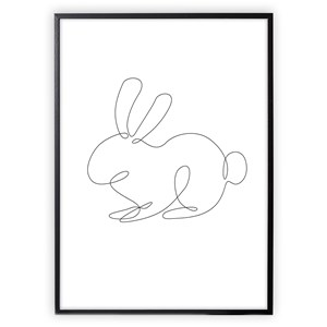 Image of XO Posters Poster Rabbit Lines 30x40 cm (1356546)