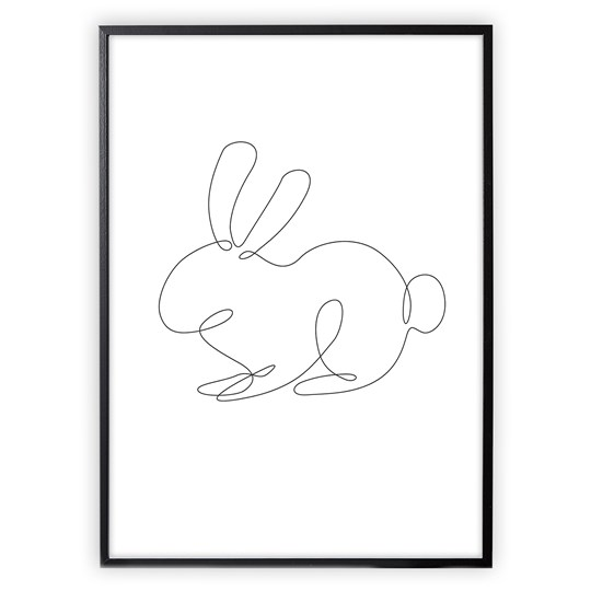 XO Posters Poster Rabbit Lines
