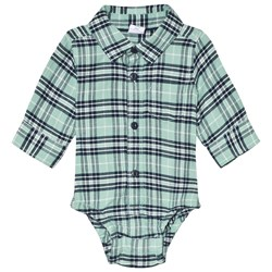 GAP Green Tea Check Shirt Baby Body