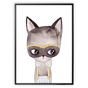 Image of XO Posters Poster Cat With Mask 30x40 cm (1356554)
