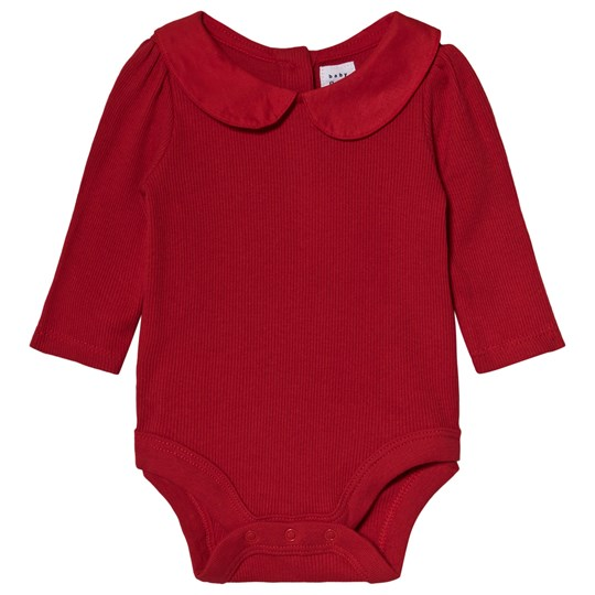 GAP Berry Red Ribbed Baby Body MODERN RED 2