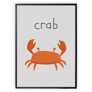 Image of XO Posters Poster Crab 30x40 cm (1356564)