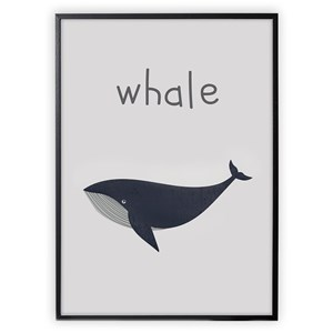 Image of XO Posters Whale Poster 30x40 cm (3148271485)