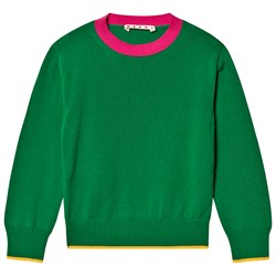 Marni Green and Pink Knitted Sweater