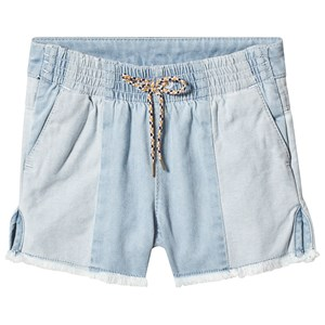 Image of Chloé Blue Light Denim Shorts with Raw Hem 10 years (3125267963)