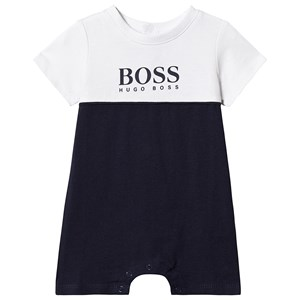 Image of BOSS Navy and White Branded Romper 1 month (3125286233)