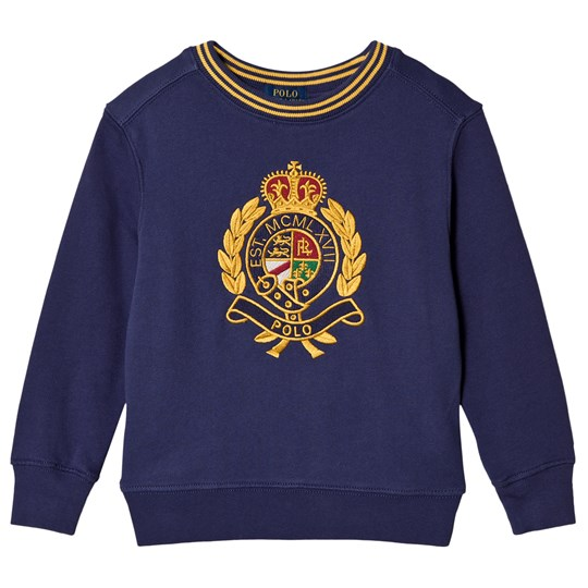 Ralph Lauren Navy Crest Logo Embroidered Sweatshirt 001
