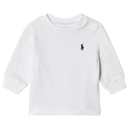 Ralph Lauren White Long Sleeve Tee with PP 009