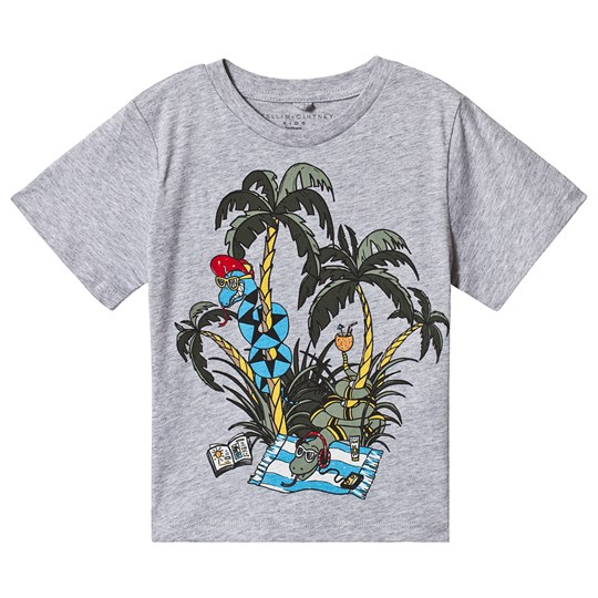 Stella McCartney Kids Grey Snake Holidays Tee 1461 - Thunder