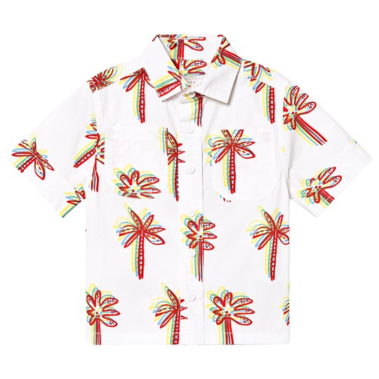 Stella McCartney Kids Palmmönstrad Skjorta Vit 9086 - Graphic Palms On Whi