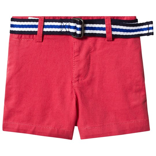 Ralph Lauren Red Belted Chino Shorts 004