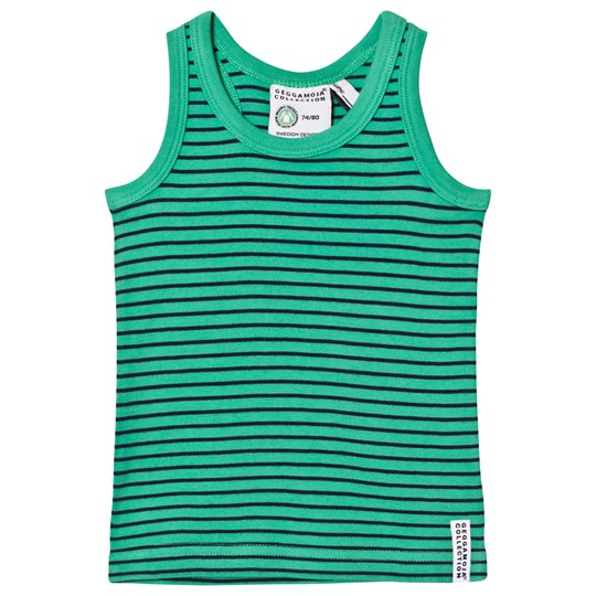 Geggamoja Tank Top Green and Navy Green