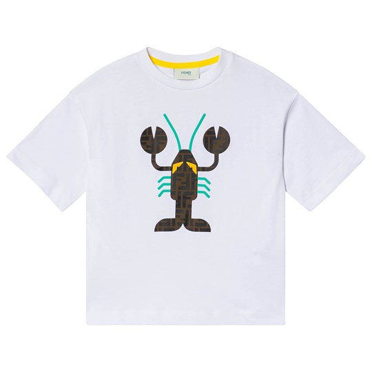 Fendi Lobster T-Shirt Vit F0QA0