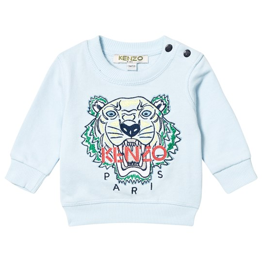 Kenzo Pale Blue Tiger Embroidered Sweatshirt 42