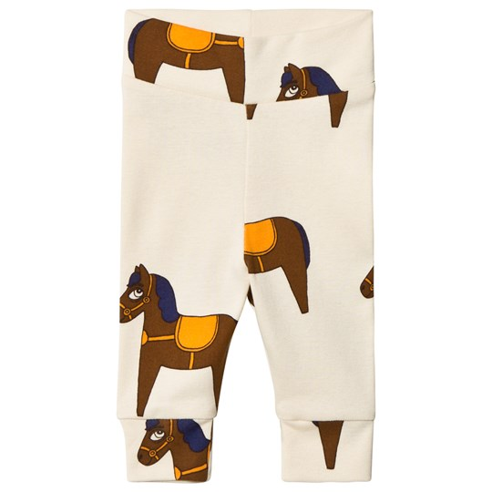 Mini Rodini Horse Newborn Leggings Gul Yellow