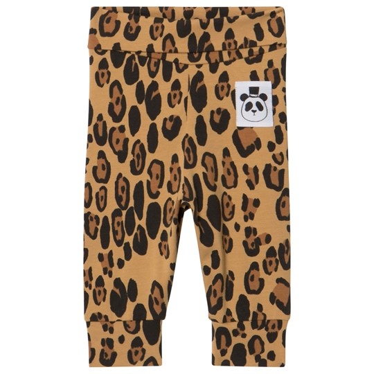 Mini Rodini Basic Leopard Newborn Leggings Beige Beige