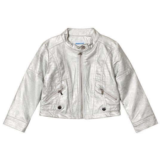 Mayoral Silver Pleather Jacket 46