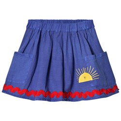 Bobo Choses Sun Pockets Skirt Turkish Sea