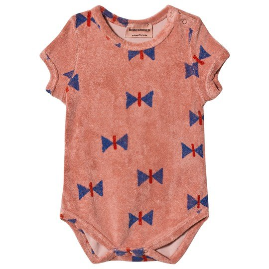 Bobo Choses Butterfly Frotté Baby Body Lobster Bisque Lobster Bisque