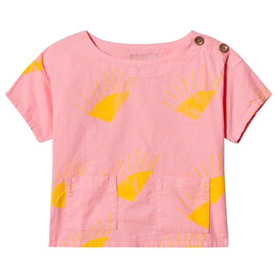 Bobo Choses Sun Short Sleeve Shirt Strawberry Ice Strawberry Ice