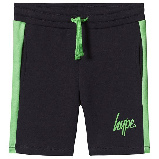 Hype Navy and Lime Stripe Shorts Navy/Lime Green