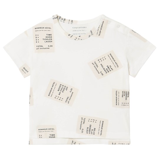 Tinycottons Tickets Tee Off-White/Stone off-white/stone