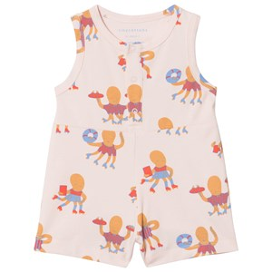 Image of Tinycottons Octopus Relaxed Romper Light Pink/Cerulean Blue/Light Brick 6 år (2928431039)