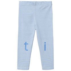 Tinycottons T-i-n-y Logo Pant Off-White/Cerulean Blue