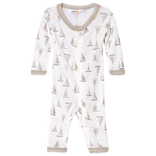 Joha Sea And Sky Print Jumpsuit Heather Gray And White Sea & Sky
