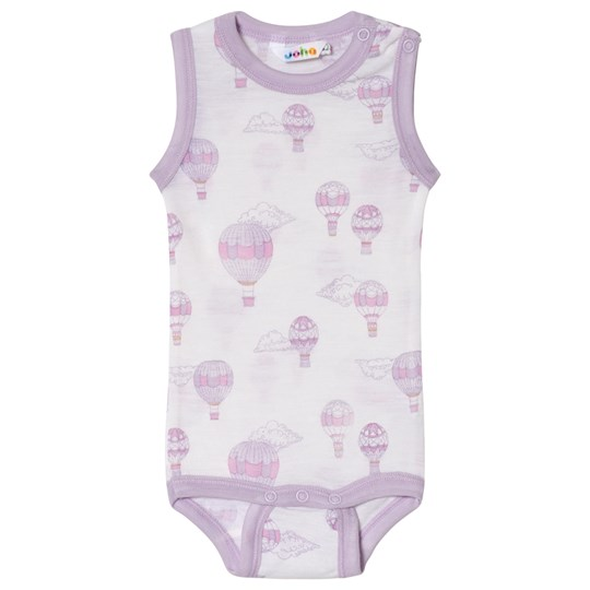 Joha Airballoon Print Sleeveless Body Pink and White Airballon