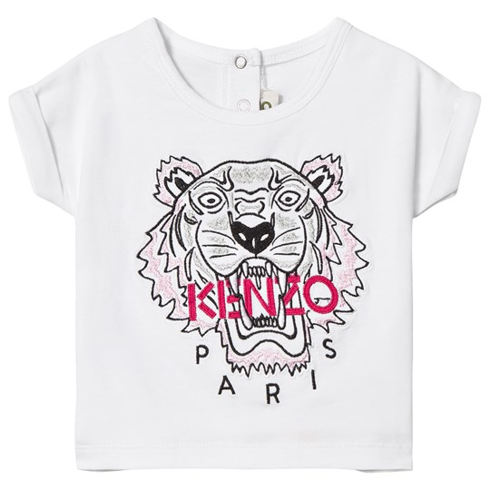 Kenzo Tiger Embroidered T-shirt Vit 01
