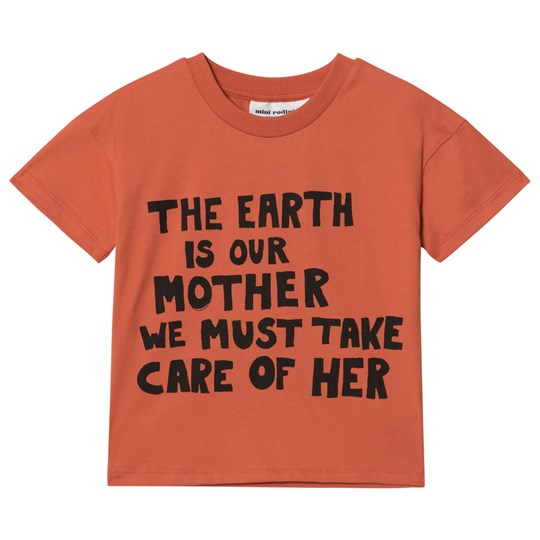 Mini Rodini Mother Earth Tee Orange Orange