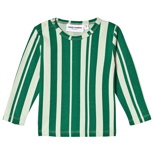 Mini Rodini Odd Stripe Tee Green Green