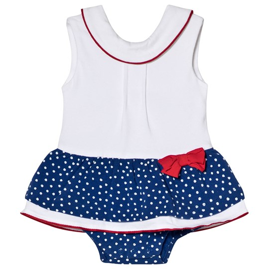 Mayoral White and Blue Spotty Skirt Baby Body 10