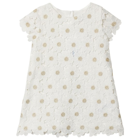 Mayoral White and Gold Flower Embroidered Dress 60