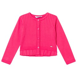 Mayoral Pink Ribbed Cardigan