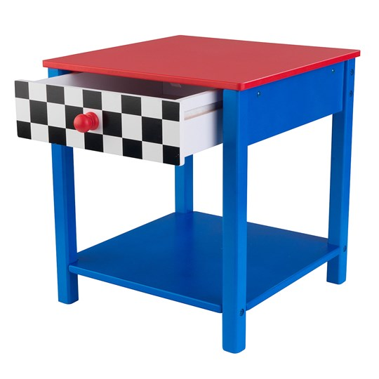 KidKraft Racecar Side Table Multi