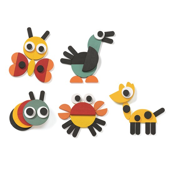 Djeco Ze Geoanimo Wooden Animals Green