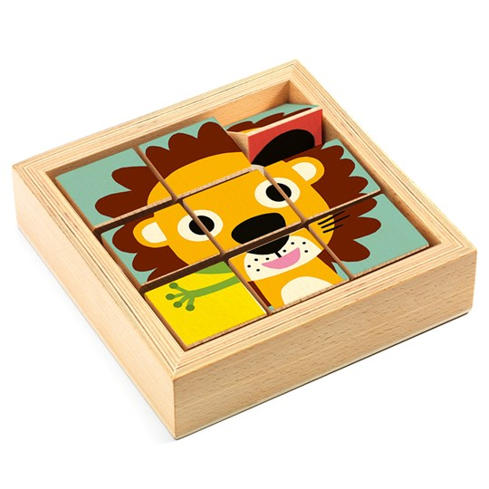 Djeco Tournanimo 3D wooden puzzle Beige