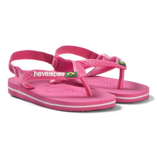 Havaianas Pink Branded Infants Flip Flops 0703