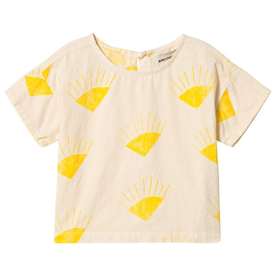 Bobo Choses Sun Short Sleeve Shirt Buttercream Buttercream