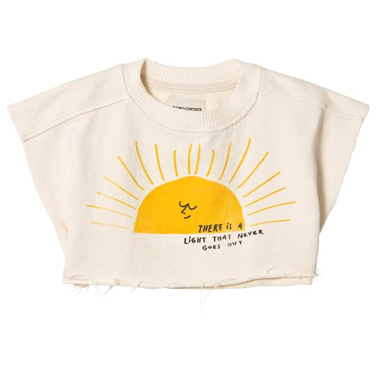 Bobo Choses Sun Cropped Sweatshirt Buttercream Buttercream