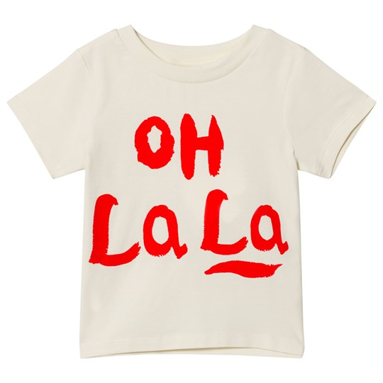Mini Rodini Oh La La Tee Off White White