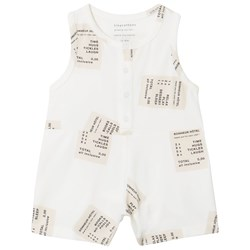 Tinycottons Tickets Relaxed Romper Off-White/Stone