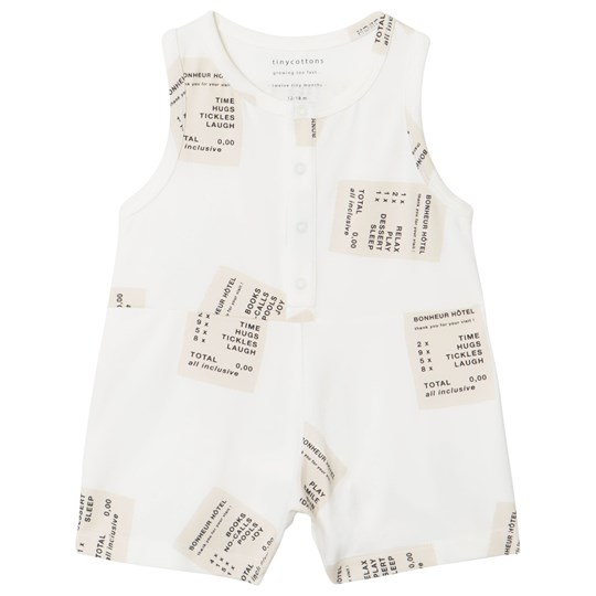 Tinycottons Tickets Relaxed Romper Off-White/Stone off-white/stone