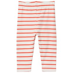 Tinycottons Small Stripes Pant Off-White/Carmine