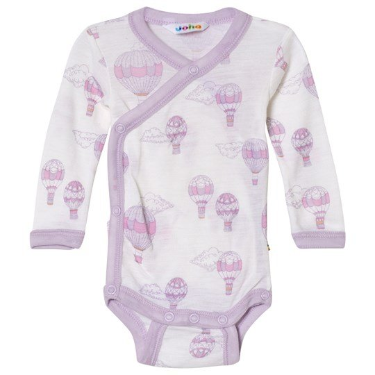 Joha Airballoon Print Wrap Around Baby Body Pink and White Airballon