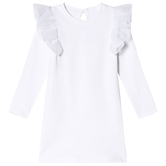 The BRAND Flounce Dress White White