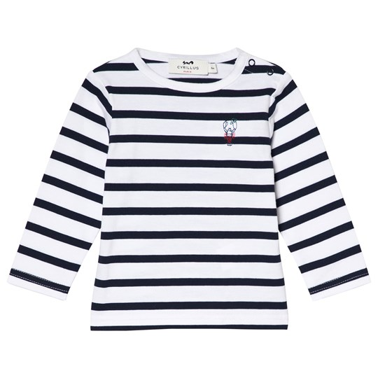 Cyrillus Navy and White Lobster T-Shirt 6408