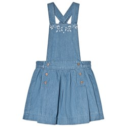 Cyrillus Blue Chambray Embroidered Dress
